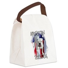 American Bulldog Canvas Lunch Bag