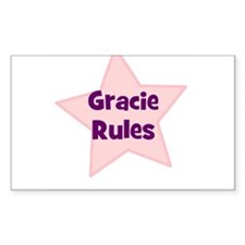 Gracie Rules Rectangle Decal