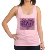 Lilac Ribbon Roses Heart Racerback Tank Top
