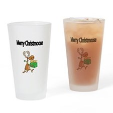 Merry Christmoose Drinking Glass