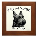 NOT SCOTTISH IT'S CRAP #2 Framed Tile