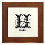 Hayley: Fancy Monogram Framed Tile
