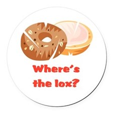 wheres the lox.png Round Car Magnet