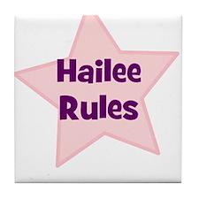 Hailee Rules Tile Coaster