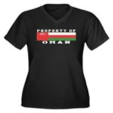 Property Of Oman Women's Plus Size V-Neck Dark T-S