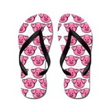 Cute Pink Pigs Flip Flops