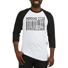 Herding Dog Priceless Barcode Baseball Jersey