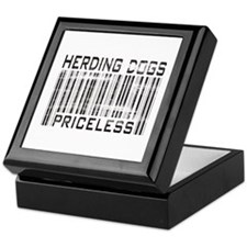 Herding Dog Priceless Barcode Keepsake Box