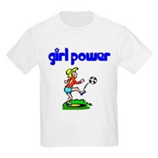 Girl Power Soccer Kids T-Shirt