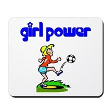 Girl Power Soccer Mousepad