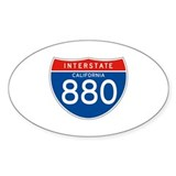 Interstate 880 - CA Oval Decal