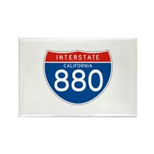 Interstate 880 - CA Rectangle Magnet (100 pack)