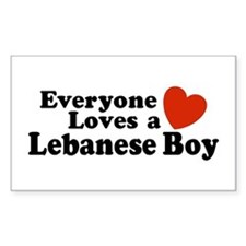 Everyone Loves a Lebanese Boy Sticker (Rectangular