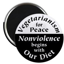 "Vegetarianism for Peace 2.25"" Magnet (10 pack)"