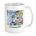 Sustainable Hero Comic Large Mug