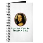 Mona Lisa Italian Girl Journal