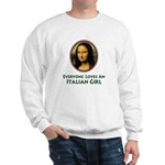 Mona Lisa Italian Girl Sweatshirt