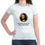 Mona Lisa Italian Girl Jr. Ringer T-Shirt
