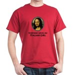 Mona Lisa Italian Girl Dark T-Shirt