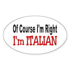 ITALIAN Oval Decal