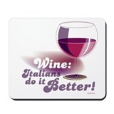 Red Wine Glass Mousepad