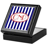 cnp red white blue Keepsake Box