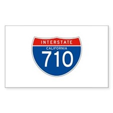 Interstate 710 - CA Rectangle Decal