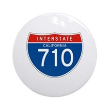 Interstate 710 - CA Ornament (Round)