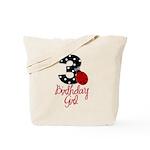 3 Ladybug Birthday Girl Tote Bag