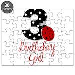 3 Ladybug Birthday Girl Puzzle