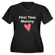 Cute First Time Mommy Plus Size T-Shirt