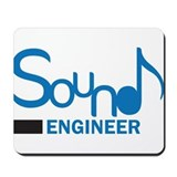DJ or music lover 'Sound Engineer' design Mousepad