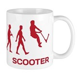 Darwin Ape to man Evolution Push Kick Scooter Small Mug
