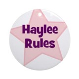 Haylee Rules Ornament (Round)