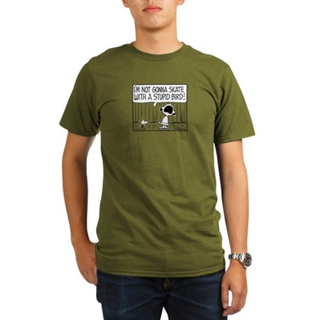 Skater Bird Organic Men's T-Shirt (dark)