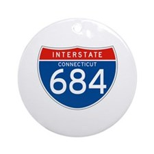 Interstate 684 - CT Ornament (Round)