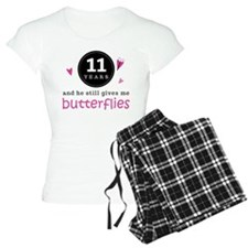 11th Anniversary Butterflies Pajamas