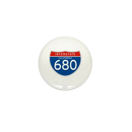 Interstate 680 - CA Mini Button (10 pack)