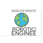 Worlds Greatest Robotics Engineer Postcards (Packa