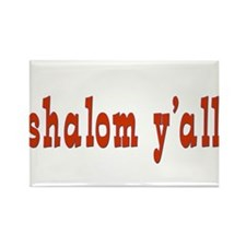 Greetings shalom y'all Rectangle Magnet
