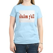 Greetings shalom y'all Women's Pink T-Shirt