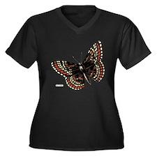 Baltimore Butterfly Women's Plus Size V-Neck Dark