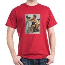 Classic Elvgren 1950s Pin Up Girl T-Shirt