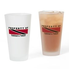 Property Of Trinidad & Tobago Drinking Glass