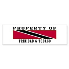 Property Of Trinidad & Tobago Bumper Sticker