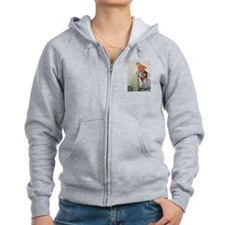 Classic Elvgren 1950s Pin Up Girl Zip Hoodie