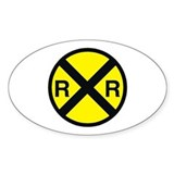 Railroad Crossing Oval Decal