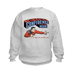 Confidence Man! Kids Sweatshirt