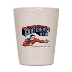 Confidence Man! Shot Glass