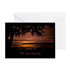Sunset Sympathy Greeting Card